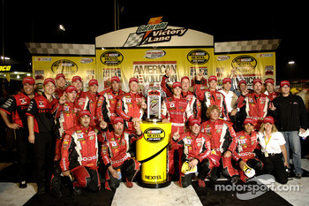 Victory lane: race winner Kasey Kahne celebrates with his team