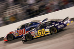 Carl Edwards passes Elliott Sadler on the final lap