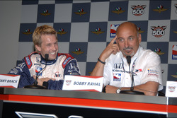 Rahal Letterman Racing press conference: Kenny Brack and Bobby Rahal