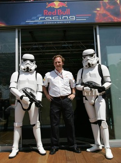 Christian Horner with stormtrooper