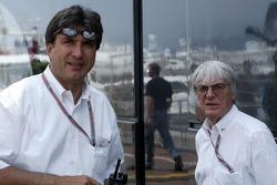 Pasquale Latenaddu and Bernie Ecclestone