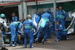 Jacques Villeneuve in the pits