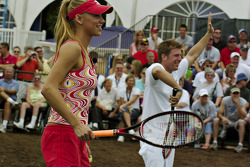 Tennis exhibition match: Anna Kournikova and Jamie McMurray