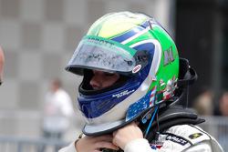 Mishael Abbott dons her helmet