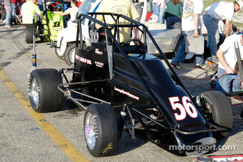 Alex Pruett's #56, sitting in the pits