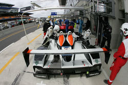 Service on the Intersport Racing Lola AER