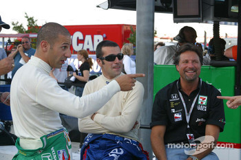 Tony Kanaan, Dario Franchitti and Michael Andretti