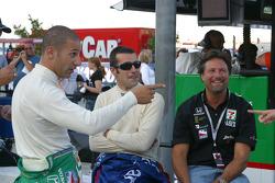 Tony Kanaan, Dario Franchitti and Michael Andretti