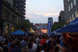 Party in the streets of Montréal