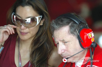 Jean Todt with girlfriend Michelle Yeoh