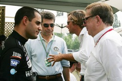 Juan Pablo Montoya with Carl Haas