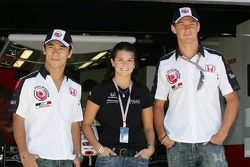 Takuma Sato, Danica Patrick and Jenson Button