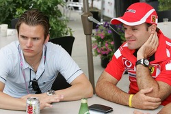 Dan Wheldon and Rubens Barrichello