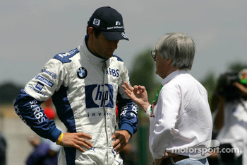 Mark Webber and Bernie Ecclestone