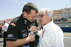 Paul Stoddart and Bernie Ecclestone