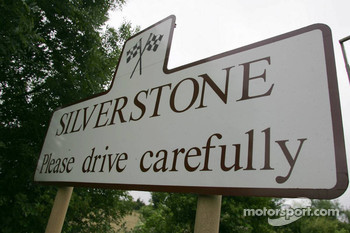 Signs at Silverstone village