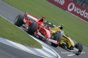 Michael Schumacher and Robert Doornbos