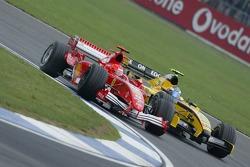 Michael Schumacher and Robert Doornbos