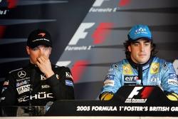 Press conference: pole winner Fernando Alonso with Kimi Raikkonen