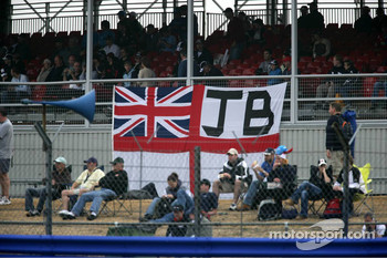 Fans banner for Jenson Button