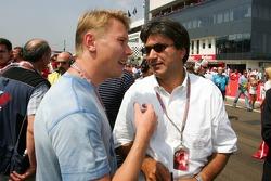 Mika Hakkinen and Pasquale Lattuneddu