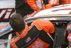 Victory lane: race winner Tony Stewart gets of of his car