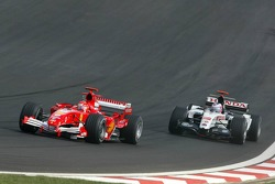 Michael Schumacher and Jenson Button