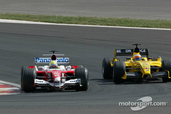 Ralf Schumacher and Narain Karthikeyan