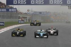 Giorgio Pantano and Nico Rosberg