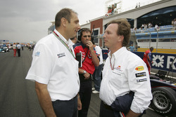 Bruno Michel and Christian Horner