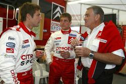 Sébastien Loeb, François Duval and Guy Fréquelin