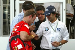 Rubens Barrichello and Antonio Pizzonia