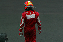 Michael Schumacher walks away