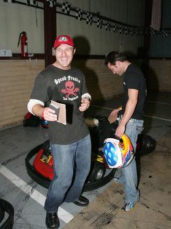 Bill Auberlen and Bryan Sellers celebrate