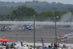 The big one on lap 19 involving Dale Earnhardt Jr., Michael Waltrip, Mark Martin, Elliott Sadler and Mike Skinner