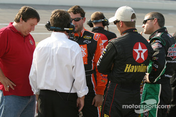 Tony Stewart, Jamie McMurray and Bobby Labonte