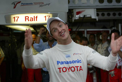 Pole winner Ralf Schumacher celebrates