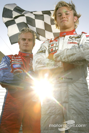Photoshoot: Heikki Kovalainen and Nico Rosberg