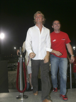 Nico Rosberg arrives at the ceremony