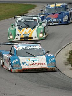 #8 Rx.com/ Synergy Racing BMW Doran: Burt Frisselle, Brian Frisselle, #02 New Century Mtg/ Chip Ganassi w/Sabates Lexus Riley: Cort Wagner, Stefan Johansson
