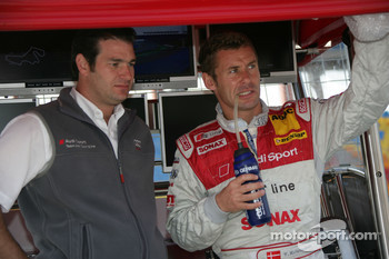 Tom Kristensen with race engineer Franco Chiocchetti