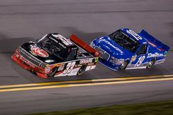 Ty Dillon, GMS Racing Chevrolet leads Tyler Reddick, Brad Keselowski Racing Ford