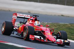 Sebastian Vettel, Ferrari SF15-T running sensor equipment
