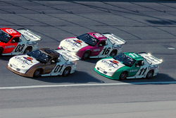 Helio Castroneves, Scott Pruett, Max Papis and Steve Kinser