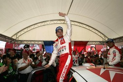 Rally winner Sébastien Loeb celebrates
