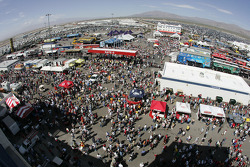 Fans arrive at Las Vegas Motor Speedway