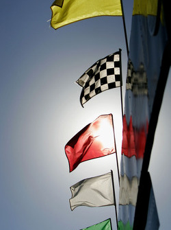 Flags at Texas Motor Speedway