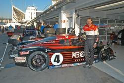 Butch Leitzinger next to #4 car