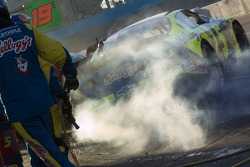 Last pitstop for Kyle Busch