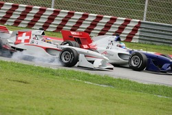 Neel Jani and Alexandre Premat battle